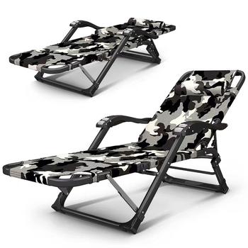Nowy składany rozkładany fotel rozkładany na lunch solidne trwałe krzesło biurowe pojedyncze kompaktowe krzesło domowe krzesło do drzemki łatwe do przenoszenia krzesło tanie i dobre opinie Executive krzesło Mesh krzesło Meble sklepowe Meble biurowe Metal Ze stopu aluminium ze stopu aluminium 800mm 178*25*52