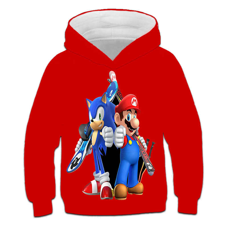 Sonic the Hedgehog 3D Printing Hoodie Unisex Pullover Sweater Autumn Hooded