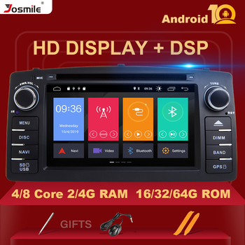 4GB 64GB Double 2 din Android 10 Car DVD Player For Toyota Corolla E120 BYD F3 Multimedia Stereo GPS AutoRadio Navigation 8Core image