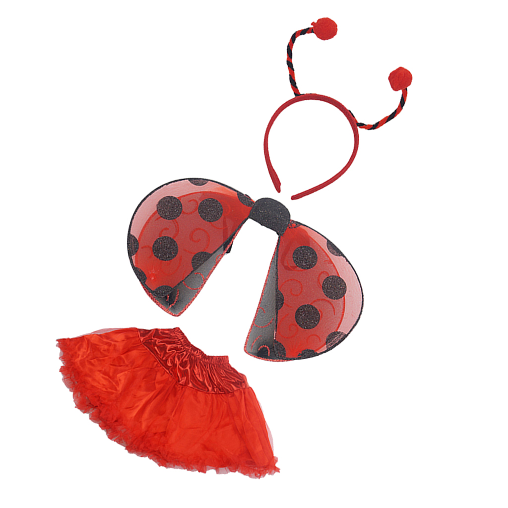 Children/'s Ladybird Bug Wing Bopper and Wand Fancy Dress up Set