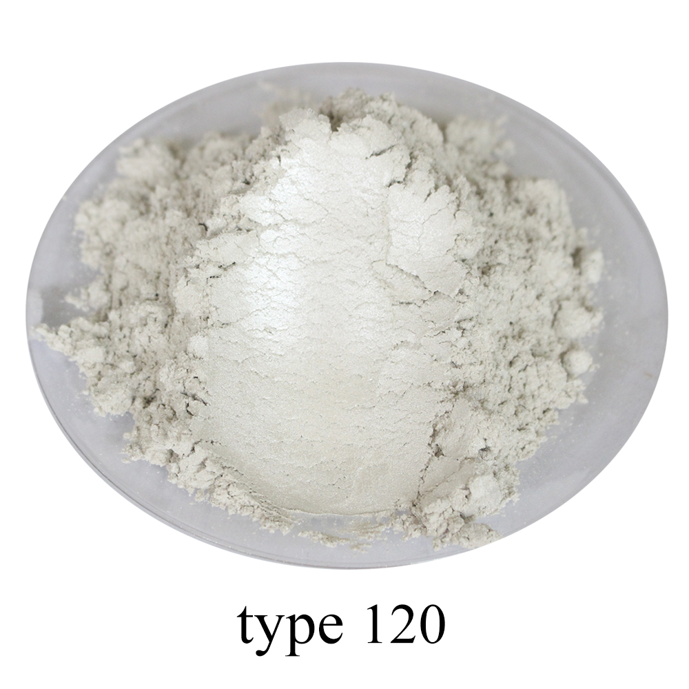 White Pigment Pearl Powder Mineral Mica Powder Acrylic Paint Type 120 For DIY Dye Colorant Soap Automotive Art Crafts Glossy 50g