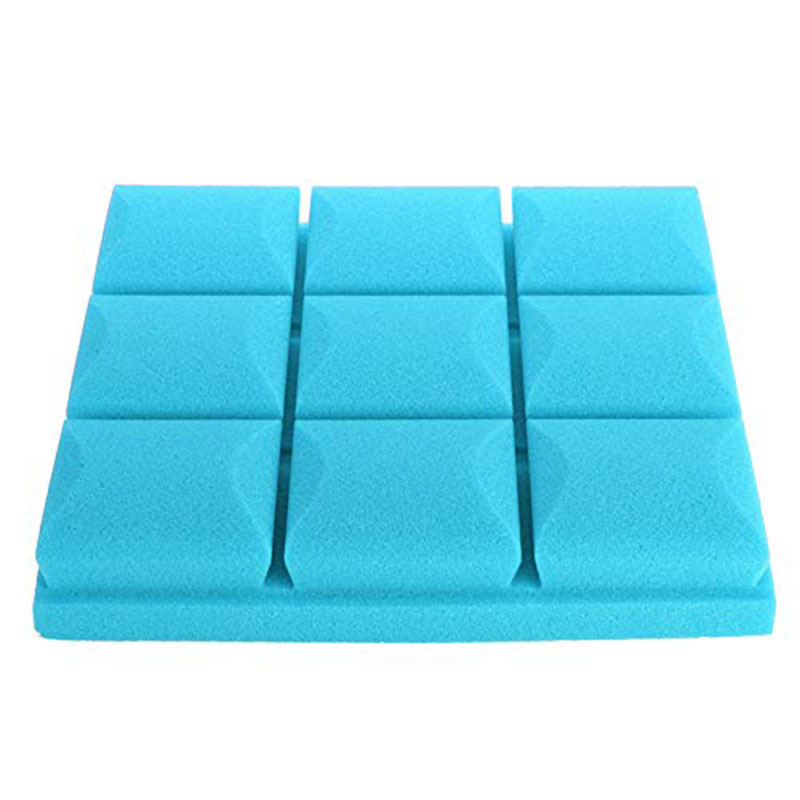 New 30X30X5cm Soundproof Sponge Acoustic Soundproof Sound Stop Absorption For Ktv Audio Room - ( Blue) - Pro Audio Equipment Par