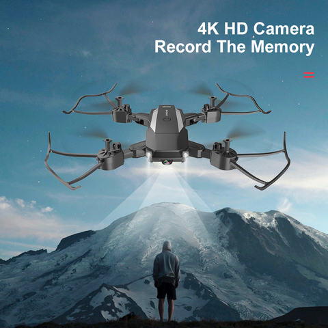 nova f84 quadcopter sem fio rc zangao com 4k camera hd wifi fpv helicoptero dobravel