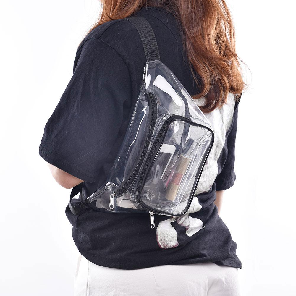 Transparent Waist Bag Fanny Pack Purse Pockets PVC Clear Waterproof Sports Bags Adjustable Strap Outdoor Beach Travel Chest Bag