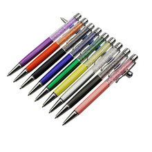 Hurtownie 100 sztuk długopis kryształowy diament dekoracyjny długopis 0.7mm długopis wskazówka wszystkie materiał metaliczny Student długopis biurowy na prezent