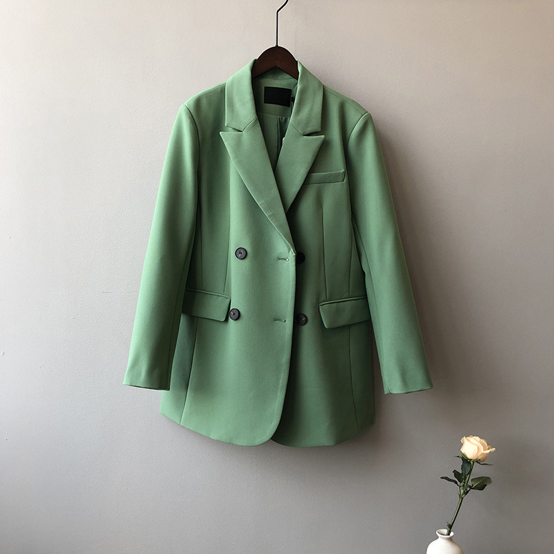 2020 Women Spring Blazer Coat Turn Down Collar Long Sleeve Vintage Coat Casaco Feminino Tops For Women Elegant Coat Outerwear