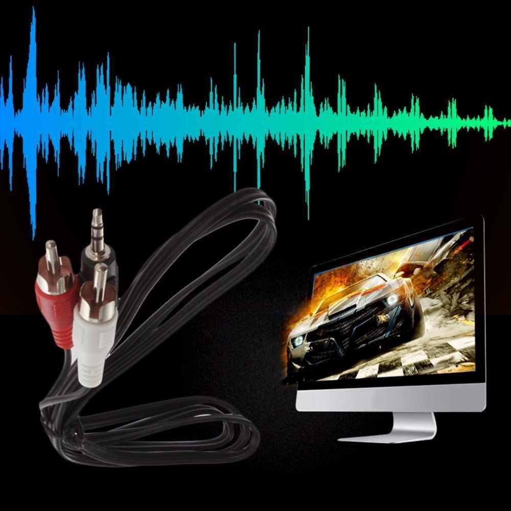 Mini 3.5 มม.Jack To 2 RCAชายสเตอริโอYอะแดปเตอร์อะแดปเตอร์อะแดปเตอร์KabelสายไฟAUXสำหรับmp3 Podโทรศัพท์ทีวีลำโพงเสียง
