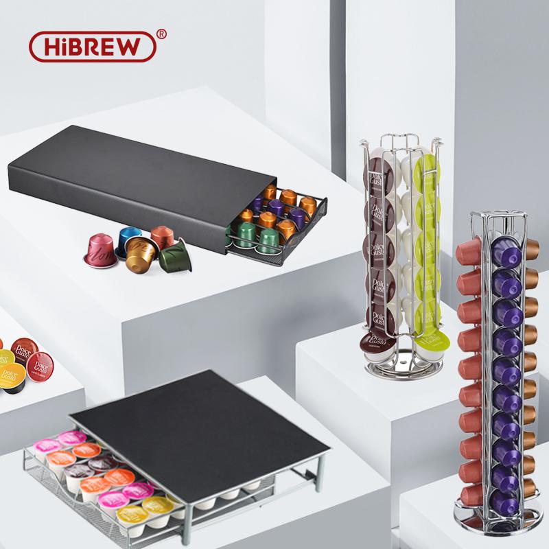 HiBREW Nes Capsule  Rack/Storage Box  DG capsule storage rack/Drawer storage box