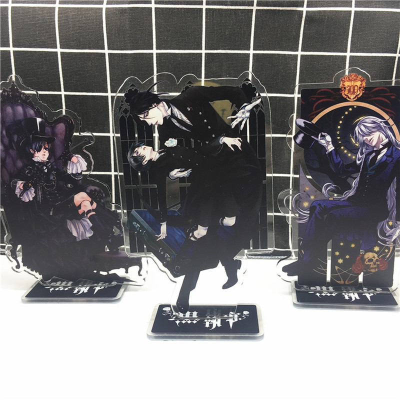 Anime Black Butler Keychain Sebastian Michaelis Ciel Phantomhive Cute Fun Cartoon Acrylic Key Chain Fashion Personalized Jewelry