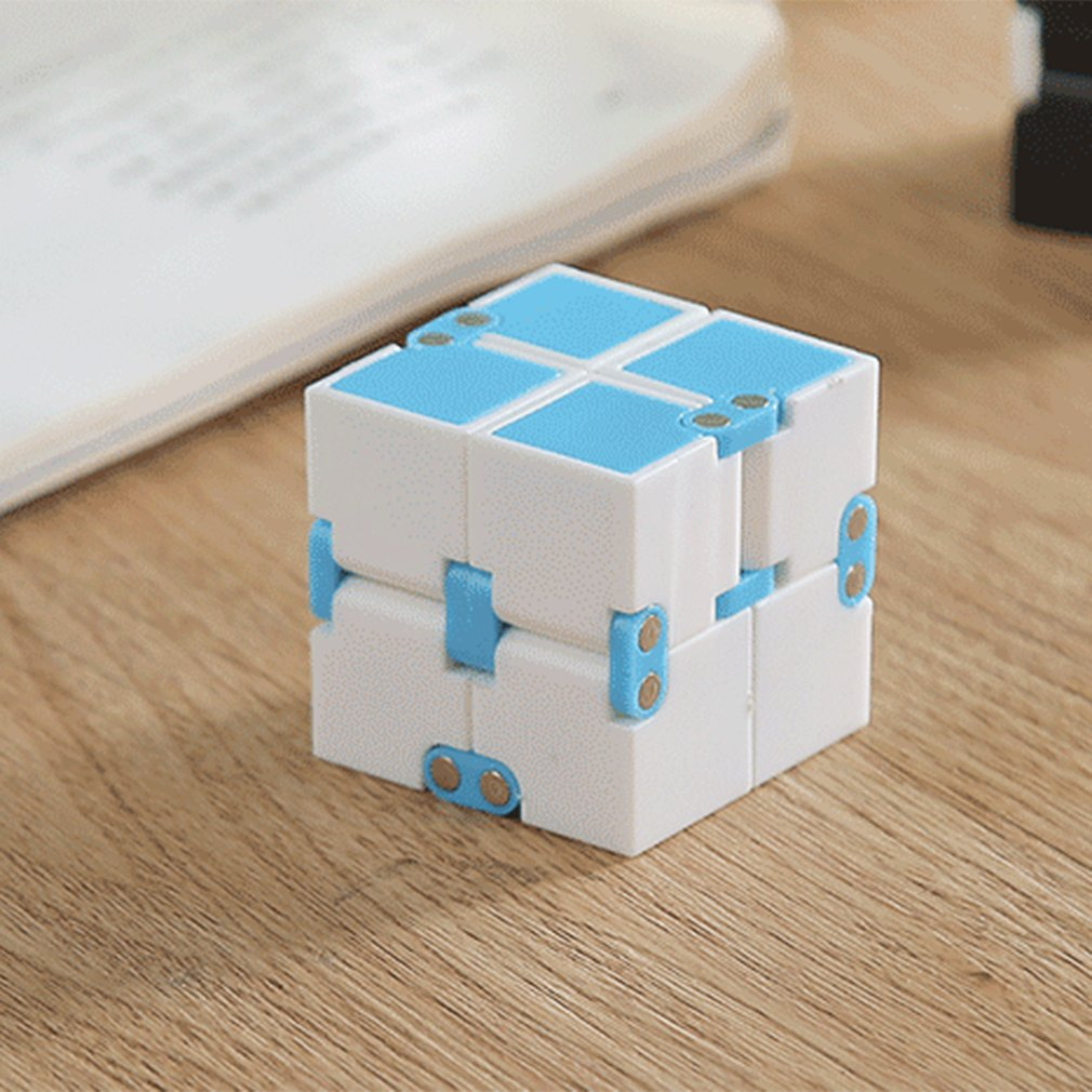 NEW! Unlimited Flip Pocket Magic Cube Block Infinite Decompression Cube High Quality Infinite Square Smooth Puzzle Cube Fidget
