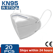 20 Pcs FFP2 KN95 Masks 4 Layers Filter Dust Mouth PM2.5 Face Mask Flu Personal Protective Health Care Mask Fast Shipping