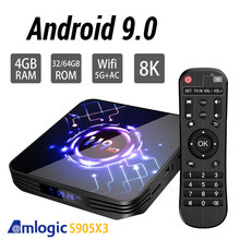 Amlogic S905X3 H9 Android 9.0 TV BOX Dual Wifi  Bluetooth 4.1 4GB 64GB 32GB Google Assistant 3D Video TV  Youtube  tv box