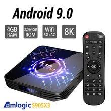 Amlogic S905X3 H9 Android 9.0 TV kutusu çift Wifi Bluetooth 4.1 4GB 64GB 32GB Google asistan 3D video TV Youtube tv kutusu