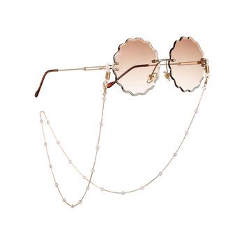 Łańcuszek do okularów przeciwsłonecznych Chic damskie łańcuszki do okularów do czytania łańcuszek do okularów do okularów uchwyt na przewód smycz na szyje smycz 70cm tanie i dobre opinie WOMEN Metal Łańcuchy i smycze Okulary akcesoria smj0003 Sunglasses accessories Ze stopu cynku GEOMETRIC gold
