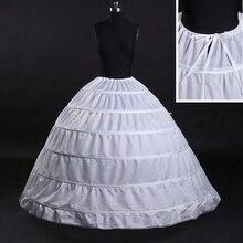 Gerçek fotoğraf yüksek kalite kabarık 6 çemberler gelin Petticoat kabarık etek kombinezon Rockabilly gelin balo
