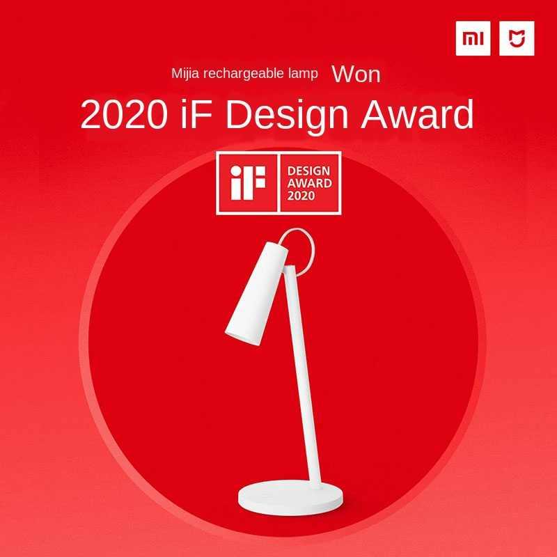 Xiaomi Mijia Mi LED Meja Lampu USB Pengisian Baca Lampu Meja Belajar Meja Kantor Light Portable Bedside Night Light 120 rotasi