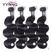 Yyong Hair 4 zestawy peruwiański ciało fala ludzki włos wyplata Remy pasma peruwiańskich falowanych włosów 4 sztuk 8-30 Cal Tissage péruvien