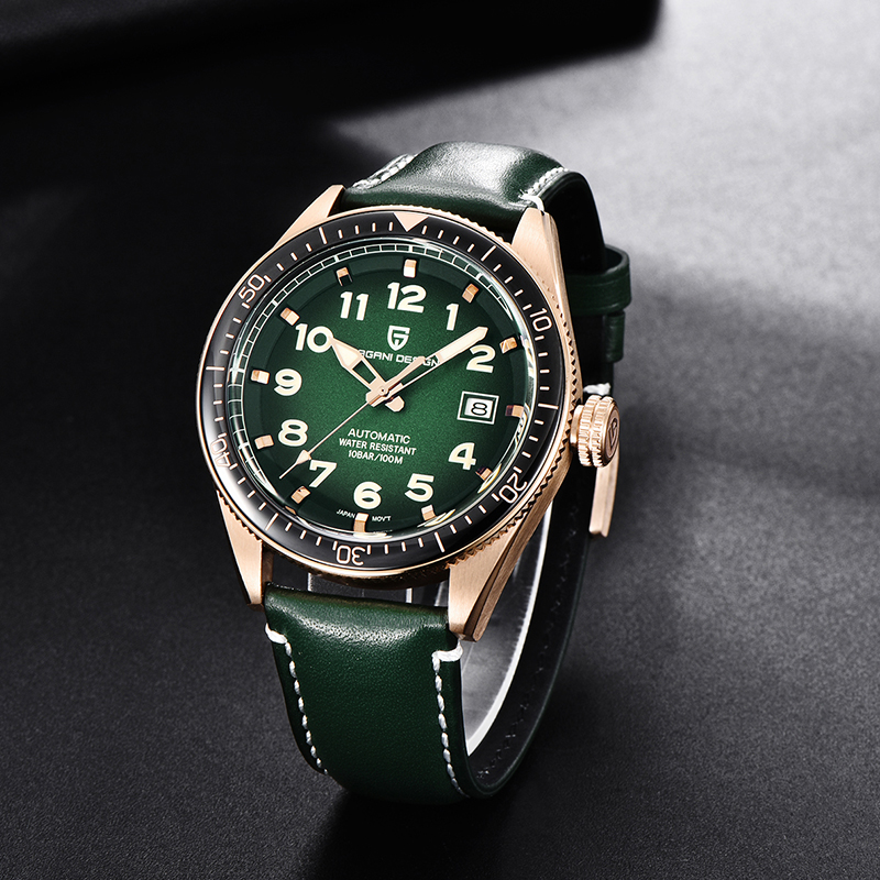 Relogio Masculino PAGANI DESIGN Men Watches Luxury Top Brand Leather Sports Automatic Mechanical All Steel Waterproof WristWatch