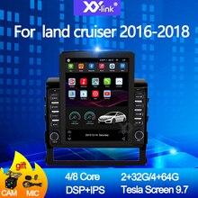 цена на 9.7 inch tesla screen Android 10.0 car radio multimedia dvd player GPS navigation system for toyota land cruiser 2016-2018 audio