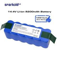 Sparkole 5.2Ah 14.4V البطارية بطارية ليثيوم أيون ل اي روبوت رومبا 500 600 700 800 سلسلة 510 530 555 620 650 760 770 780 790 870 880