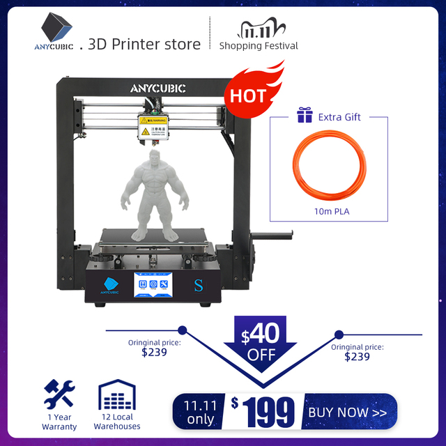 ANYCUBIC Mega S 3d Printer i3 Mega Upgraded Plus Size TFT Touch Screen Desktop FDM 3d Printer Kit impresora 3d stampante 3d