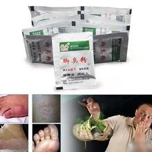 10 мешков грибковые инфекции ванна для ног порошок Уход за ногами спортсмена ноги, запах ног, пот, зуд, шелушение, Beriberi, Tinea Pedis