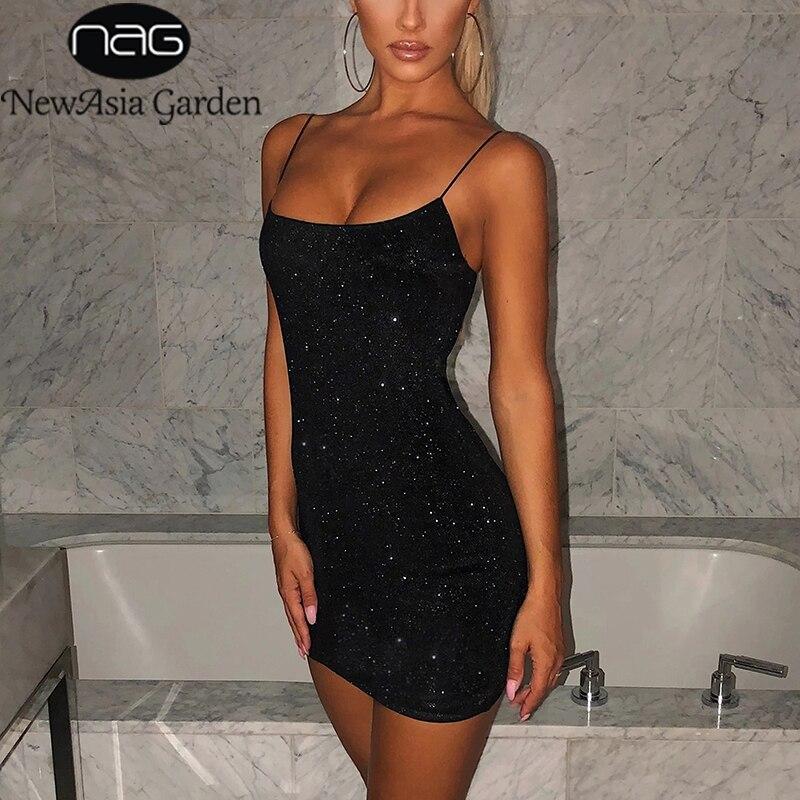 NewAsia Garden Two Layers Sparkle Dresses Woman Party Night Club Wear Sexy Stretch Slim Fit Bodcon Mini Dress Black Vestido 2020|Dresses| - AliExpress