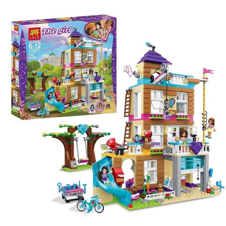 Trump 37077 Children Assembled Toys Building Blocks Heartlake Series of Friendship Club Lp01063 Celebrity Style