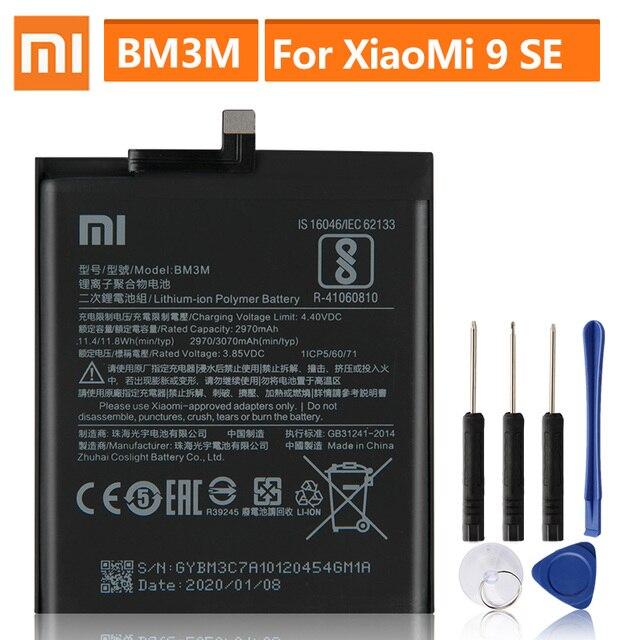 Oryginalna bateria zamienna do XiaoMi Mi9 SE Mi 9SE BM3M oryginalna bateria do telefonu 3070mAh