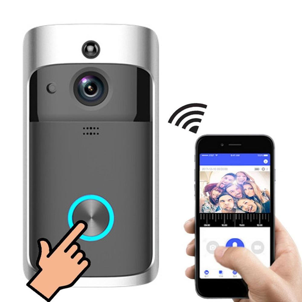 Wifi Smart Video Doorbell Smart Wireless Door Ring Intercom Home Security Security Camera Doorbell