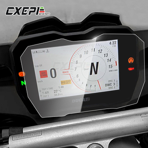 2 PCS Motorcycle Instrument Cluster Scratch Protection Film Screen Protector FOR DUCATI PANIGALE V4 2018
