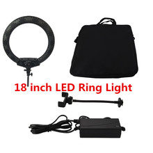 LED Ring Light 18 inch 65W 3200-5600K Photography Light Dimmable Ring Lamp Photo Studio Video Light For Video Live Makeup Selfie