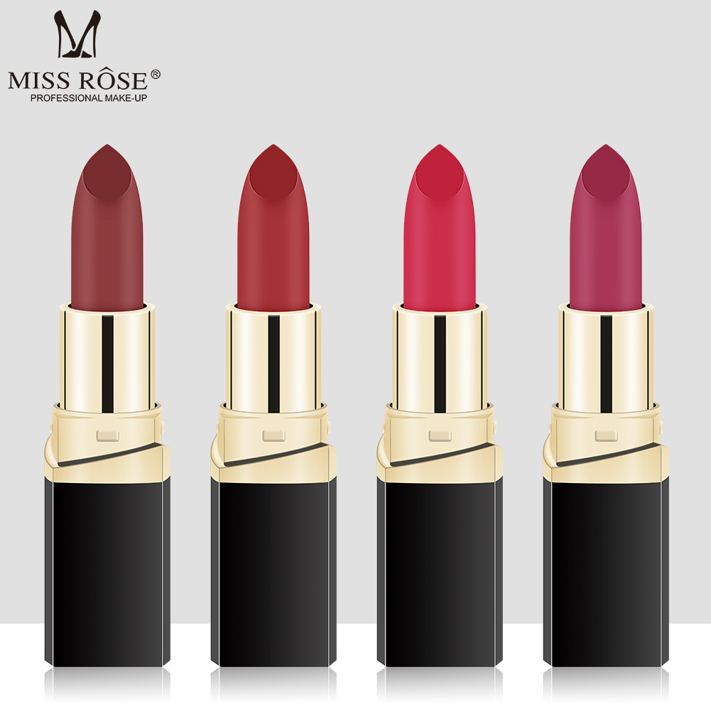 MISS ROSE lipstick matte long lasting brand makeup Moisturizer Waterproof / Water-Resistant best selling 2018 products