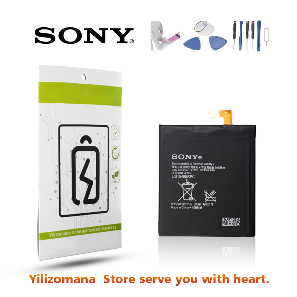 Original For SONY Xperia C3 Battery LIS1546ERPC For Sony Xperia T3 Battery D2533 D2502 M50W Replacement Phone Batteria 2500mAh in Mobile Phone Batteries from Cellphones Telecommunications
