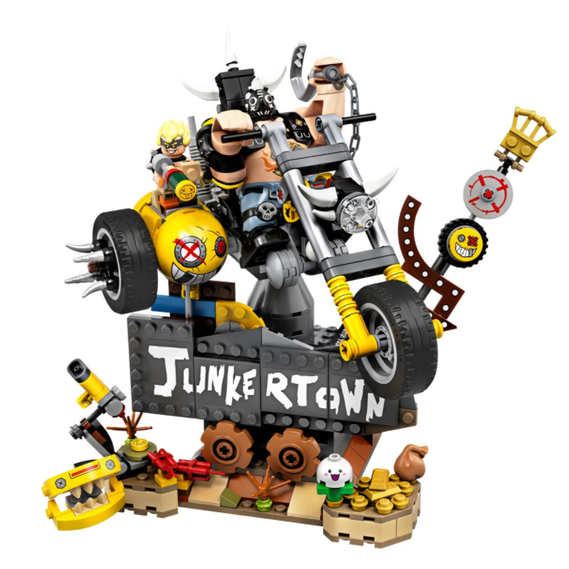 Новые кирпичи для видеоигр Junkrat и Roadhog, совместимые строительные блоки, игрушки для детей, подарок на день рождения