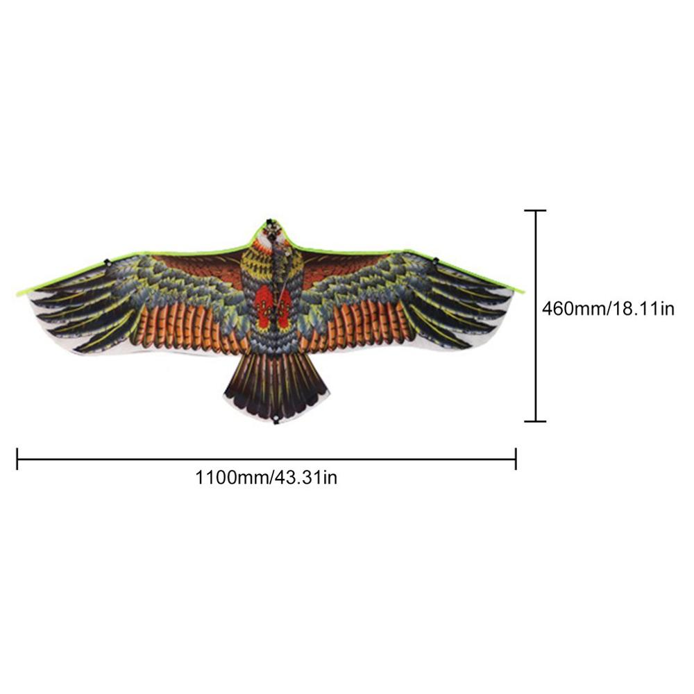 New Toys 1.1m Huge Eagle Kite Novelty Eagle Kite Flying Easy Control Family Outings Outdoor Fun Sports For Children's Best Gift