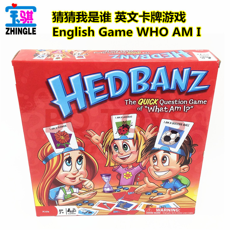 English board game card Guess who I am the game What am I Headband guessing game 2-6 people hedbanz game