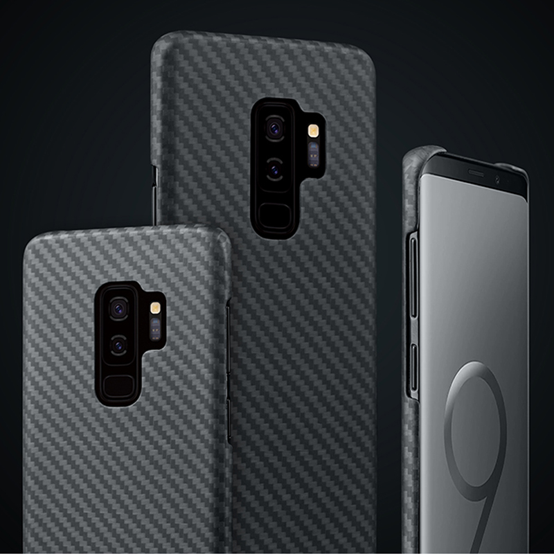 For Samsung Galaxy S9 Plus Case 0.7mm Ultra Thin Luxury Carbon Fiber Pattern Cover For Samsung S9+ S9Plus S9 Aramid Fiber Coque