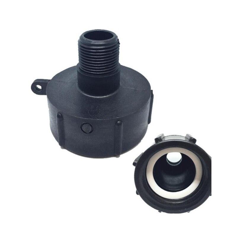 BE-Tool Adaptador de agua para grifo de v/álvula tama/ño DN40 62mm adaptador IBC de drenaje de rosca gruesa color negro