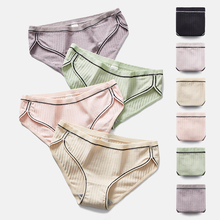 Thread Cotton Girls Underwear Sexy Breathable File In The Waist Large Size Comfortable Ladies Briefs