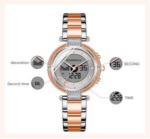 Image 4 - KADEMAN montre de luxe pour femmes, montre Bracelet LCD, numérique, élégant, de marque, à la mode, pour filles, nouvelle collection de cadeaux