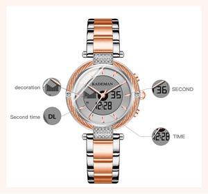 Image 4 - Kademan女性液晶高級新しいギフト女性デジタル腕時計ファッションガールトップブランドブレスレットエレガントな女性のビジネス腕時計