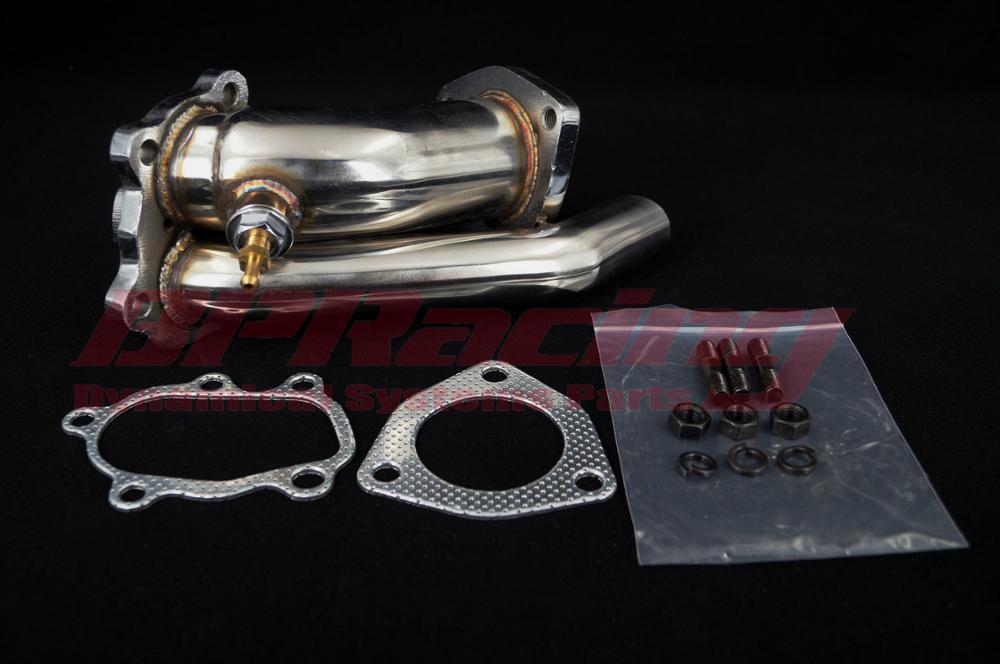 สแตนเลส Turbo Downpipe ข้อศอก Exhoust Outlet สำหรับ 1989-1998 Nissan 240SX SR20 240SX SILVIA S13 S14 S15