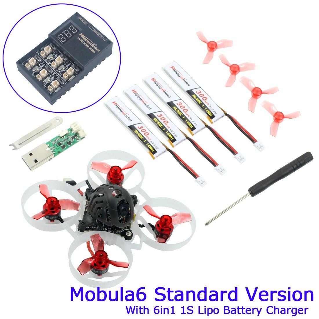 Happymodel Mobula6 Standard BNF 1S 65mm Brushless Bwhoop FPV Racing Drone Crazybee F4 Lite Runcam Nano3 RC Mini Quadcopter Dron
