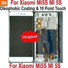% 100% orijinal en iyi IPS lcd ekran 10 dokunmatik ekranlı sayısallaştırıcı grup sensörü ile çerçeve için xiaomi mi mi 5S M5S mi 5S cam Panel