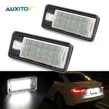 AUXITO nie błąd tablica rejestracyjna LED światła dla Audi A3 A4 S4 RS4 B6 B7 A6 RS6 S6 C6 A5 S5 2D Cabrio Q7 A8 S8 RS4 Avant akcesoria