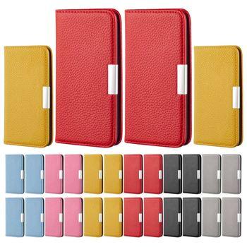 Funda de cuero de lujo con tapa para teléfono Samsung Galaxy A10 A2 Core A20E A20 A30 Litchi patrón Flip Case Color sólido P32H