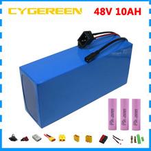 750W 48 V bateria do rowerów elektrycznych 48 V 10AH 500W 48 V ebike e skuter litowo 18650 bateria z ładowarką BMS 2A do silnikiem bafang tanie i dobre opinie CYGEREEN CN (pochodzenie) 10-20ah Bateria litowa 48V 8AH 10AH 13AH 15AH 18AH 20AH battery 3 7V 2600MAH 18650 cell more than 800 cycles