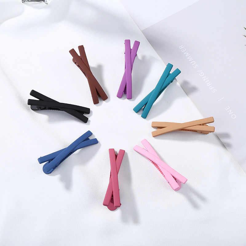 Venda quente arco nó hairpin para mulheres crianças meninas pinos de cabelo coreano doce cor metal grampos de cabelo pino snap jóias acessórios
