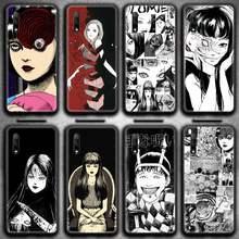 Topcashop dos desenhos animados junji ito tees horror caso de telefone para huawei honra 30 20 10 9 8 8x 8c v30 lite vista 7a pro